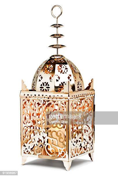 Ornate metalic candle lamp