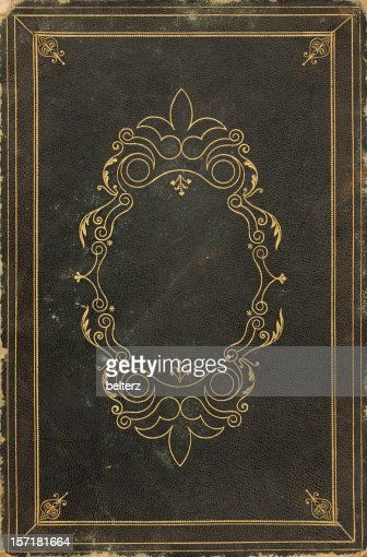 Book Cover Vintage Quotes : Ornate old book cover stock photo getty images