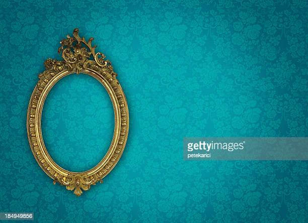 ornate picture frame - antique stock pictures, royalty-free photos & images