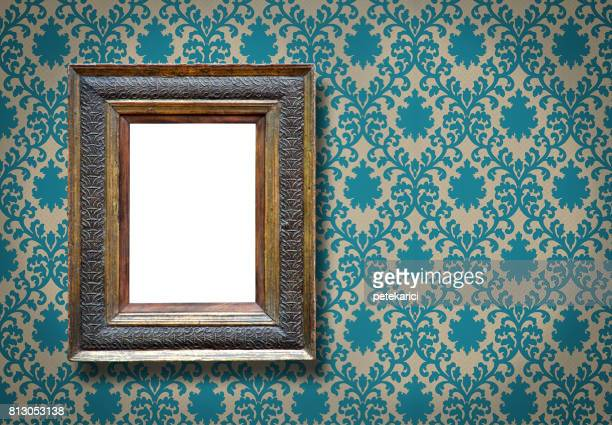 ornate picture frame (all clipping paths included) - victorian wallpaper stock pictures, royalty-free photos & images