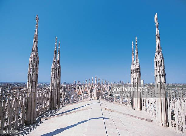 Ornate Rooftop of the Duomo, Milan, Italy