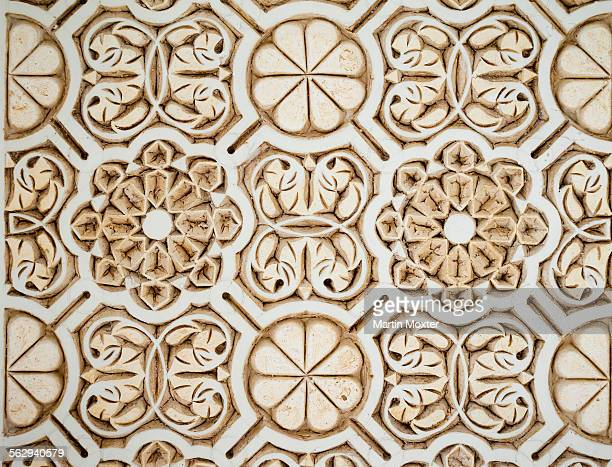 ornate stone, medina, marrakech, marrakech-tensift-al haouz, morocco - embellishment stock pictures, royalty-free photos & images