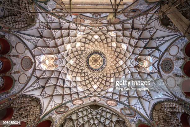 Ornate Stucco Work, Borujerdi House, Kashan, Isfahan Province, Isfahan Province, Iran