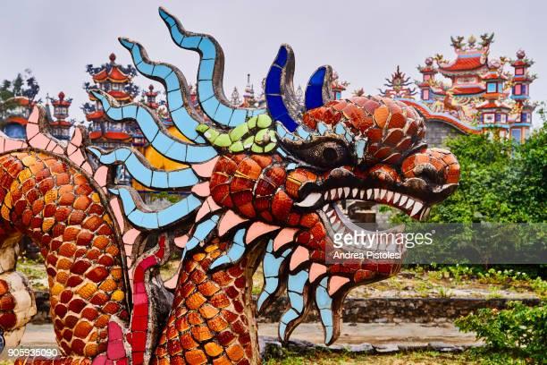 Ornated mausuleum near Hue, Vientnam