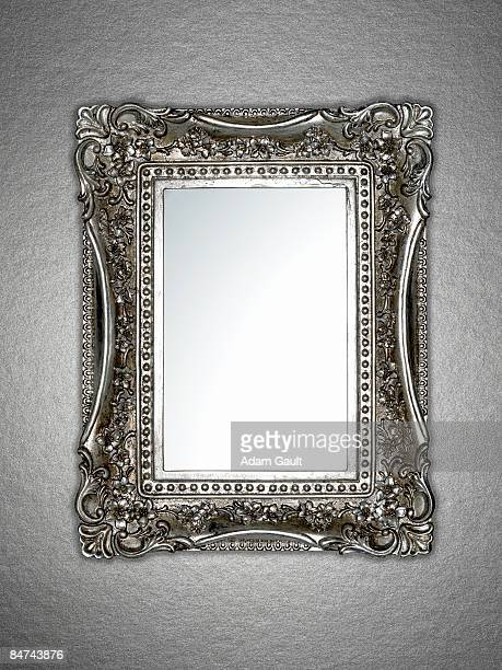 ornately framed mirror - mirror stock photos and pictures