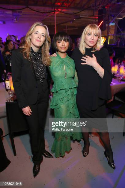 Ornela March Kat Graham and Courtney Love attend Michael Muller's HEAVEN presented by The Art of Elysium on January 5 2019 in Los Angeles California