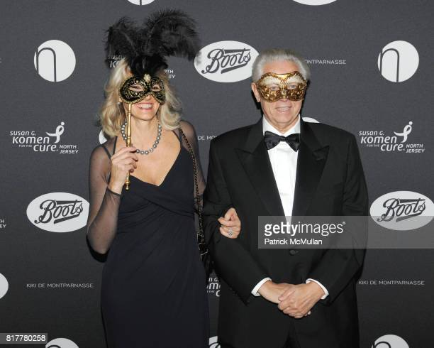 Ornella Barra and Stefano Pessina attend VIP MASKED BALL for Susan G Komen Headlined by Sir Richard Branson Katie Couric Cornelia Guest HM Queen Noor...