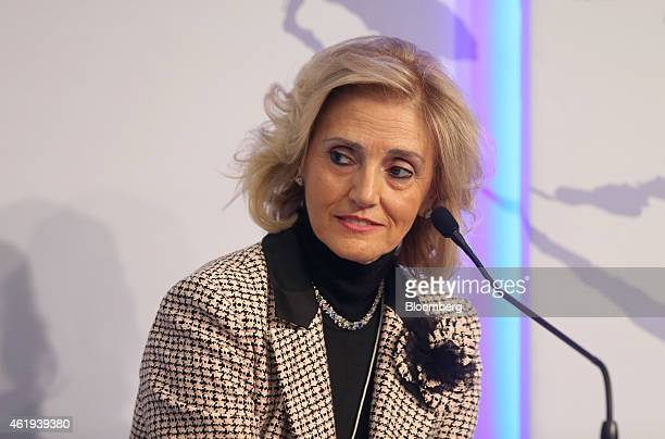 Ornella Barra executive vice president of Walgreens Boots Alliance Inc pauses during a session of the World Economic Forum in Davos Switzerland on...