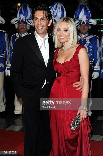 Ornella Muti and Fabrice Kerherve attend the UNESCO CharityGala 2010 at Maritim Hotel on October 30 2010 in Duesseldorf Germany