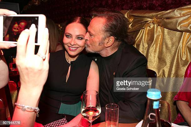 Ornella Muti and Franco Nero during the Lambertz Monday Night 2016 at Alter Wartesaal on February 1 2016 in Cologne Germany