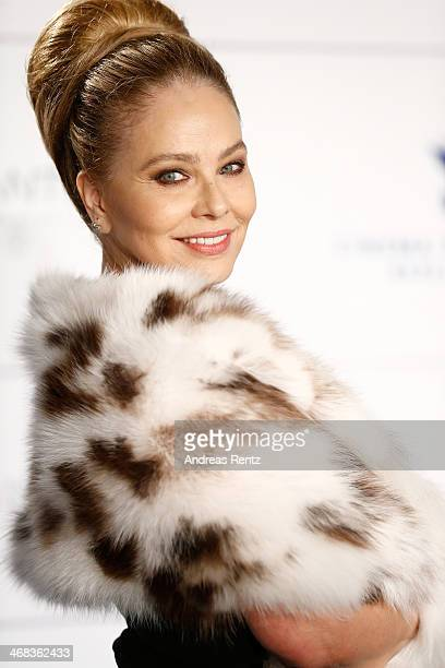 Ornella Muti arrives for the Cinema For Peace 2014 Gala at Konzerthaus Am Gendarmenmarkt on February 10 2014 in Berlin Germany