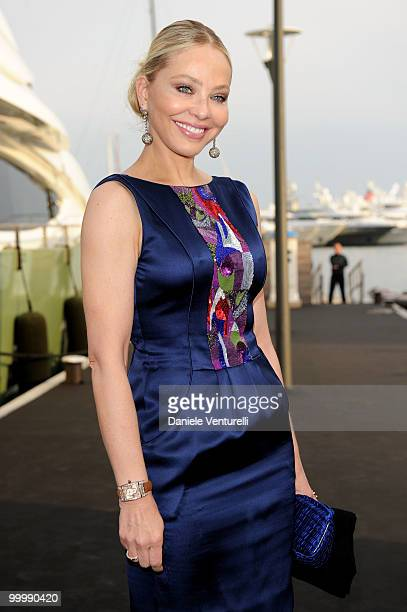 Ornella Muti attends the Fair Game Cocktail Party hosted by Giorgio Armani held aboard his boat 'Main' during the 63rd Annual International Cannes...