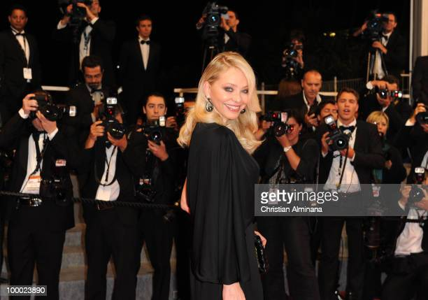 Ornella Muti attends the 'Our Life' Premiere held at the Palais des Festivals during the 63rd Annual International Cannes Film Festival on May 20...