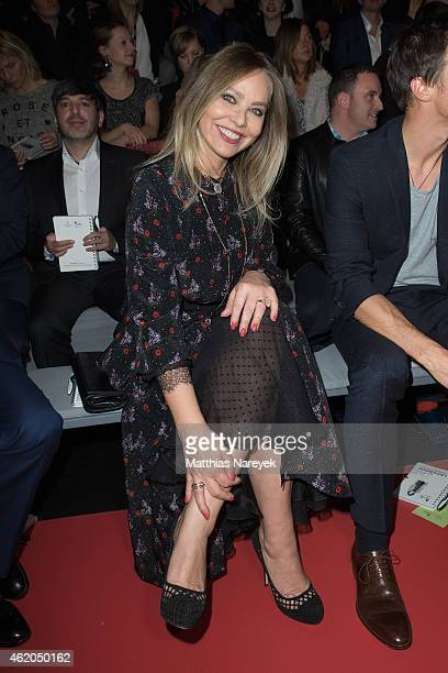 Ornella Muti attends the Shop the Runway show during the MercedesBenz Fashion Week Berlin Autumn/Winter 2015/16 at Brandenburg Gate on January 23...