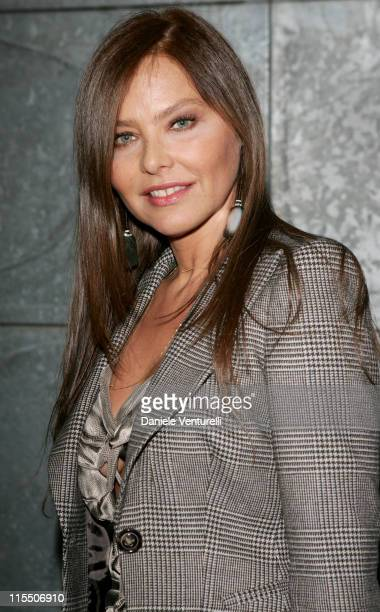 Ornella Muti during Milan Fashion Week Spring/Summer 2007 Giorgio Armani Front Row and Backstage at Via Bergognone 59 in Milan Italy