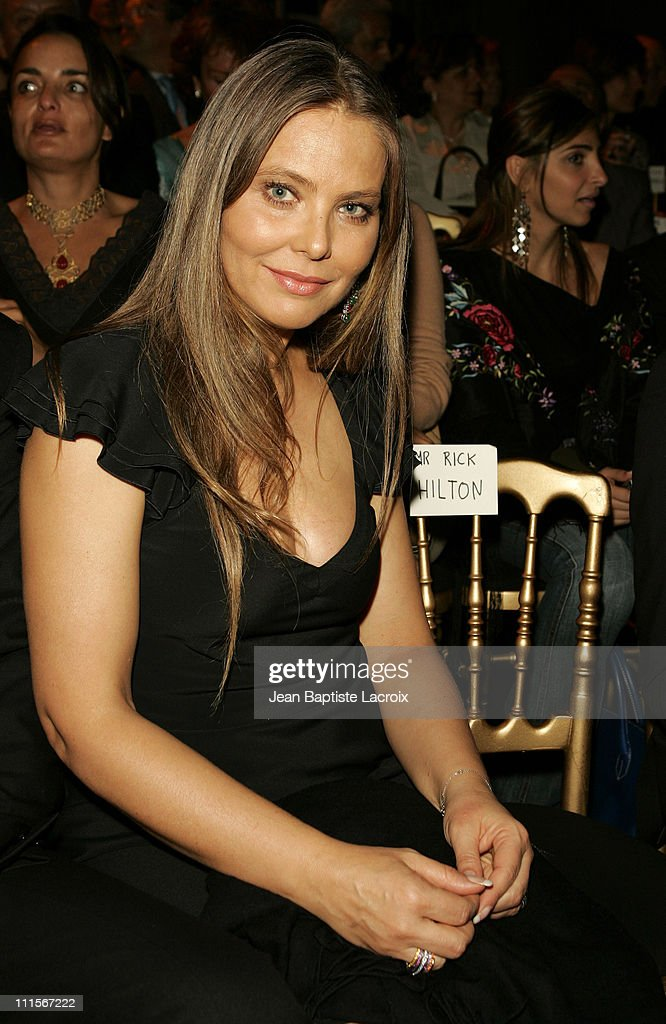 Ornella Muti during Paris Haute Couture Fashion Week - Fall/Winter 2005 - Elie Saab - Front Row in Paris, France.