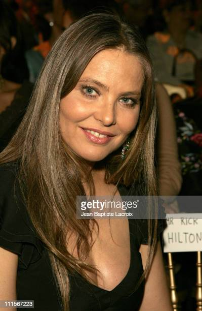 Ornella Muti during Paris Haute Couture Fashion Week Fall/Winter 2005 Elie Saab Front Row in Paris France