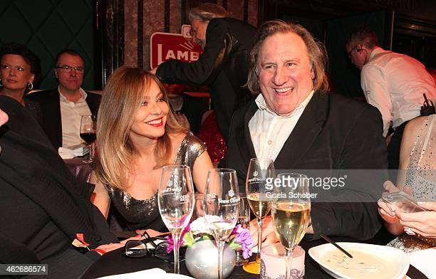 Ornella Muti Gerard Depardieu during the Lambertz Monday Night 2015 at Alter Wartesaal on February 2 2015 in Cologne Germany