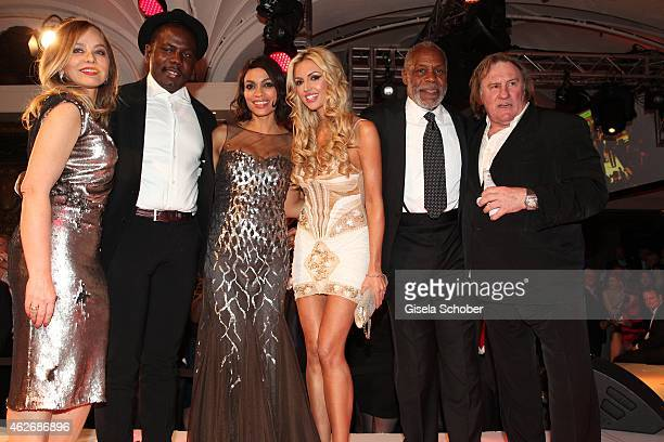 Ornella Muti Kweku Mandela Rosario Dawson Rosanna Davison Danny Glover Gerard Depardieu during the Lambertz Monday Night 2015 at Alter Wartesaal on...