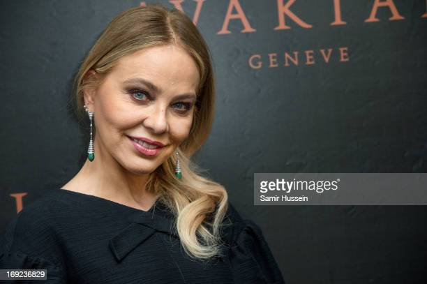 Ornella Muti visits the Avakian suite wearing Avakian jewellery during the 66th Cannes Film Festival on May 22 2013 in Cannes France