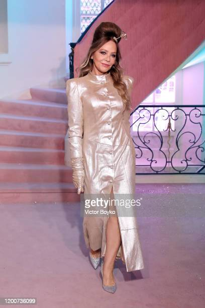 Ornella Muti walks the runway during the Ulyana Sergeenko Haute Couture Spring/Summer 2020 show as part of Paris Fashion Week on January 20 2020 in...