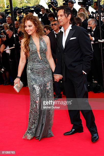 Ornella Mutti and a guest arrive at the premiere of ''Blindness'' at the Palais des Festivals during the 61st International Cannes Film Festival on...