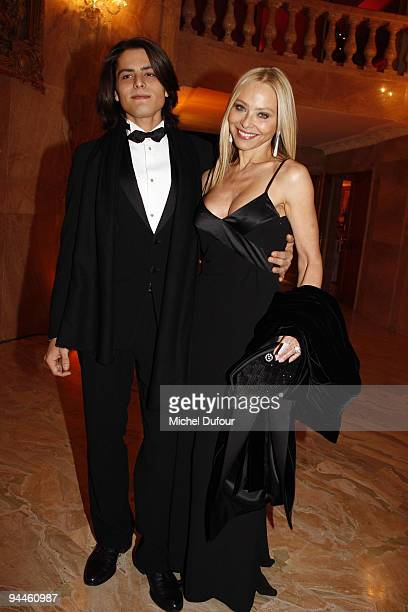 Ornella Mutti and her son attend 'The Best Awards 2009' hosted by Massimo Gargia at Salon Hoche on December 14 2009 in Paris France