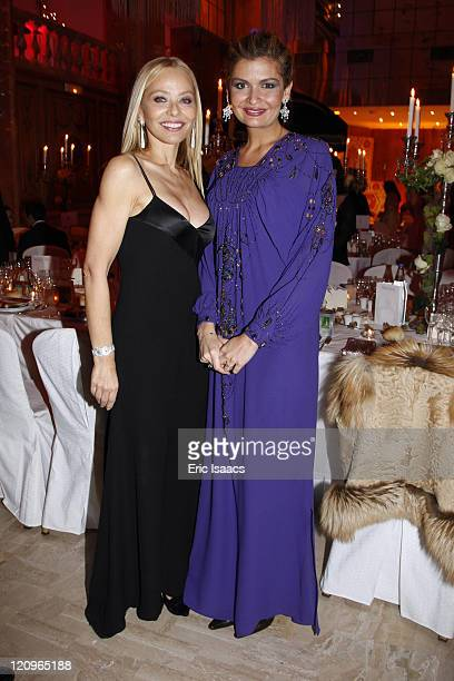 Ornella Mutti and Lola Karimova attend 'The Best Awards 2009' hosted by Massimo Gargia at Salon Hoche on December 14 2009 in Paris France
