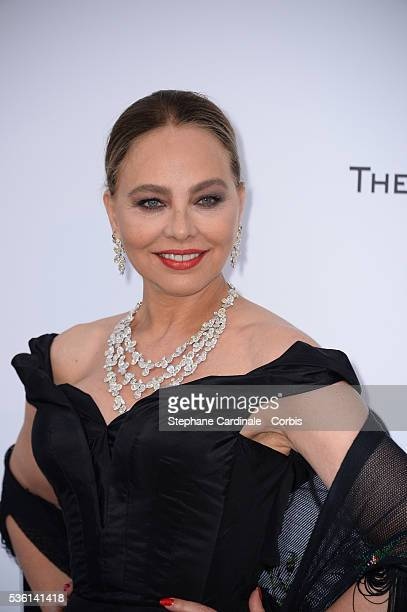 Ornella Mutti attends the AmfAR Red Carpet during the 68th Cannes Film Festival on May 21 2015 in Cannes France