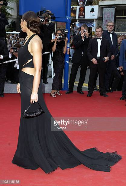 Ornella Mutti wearing jewelry by Chopard during 2003 Cannes Film Festival Closing Ceremony Arrivals at Palais des Festivals in Cannes France