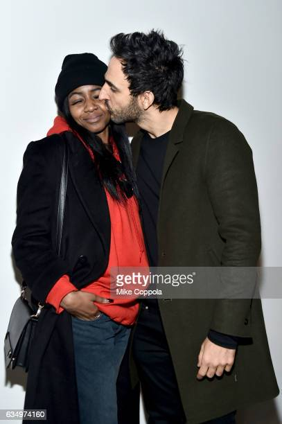 Ornella Suad and Amir Arison arrive for the Prabal Gurun Fashion SHow during New York Fashion Week The Shows on February 12 2017 in New York City
