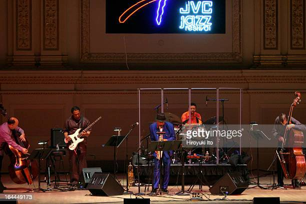 Ornette Coleman performing at JVC Jazz Festival at Carnegie Hall on Friday night, June 16, 2006.This image;Ornette Coleman center, with, from far...