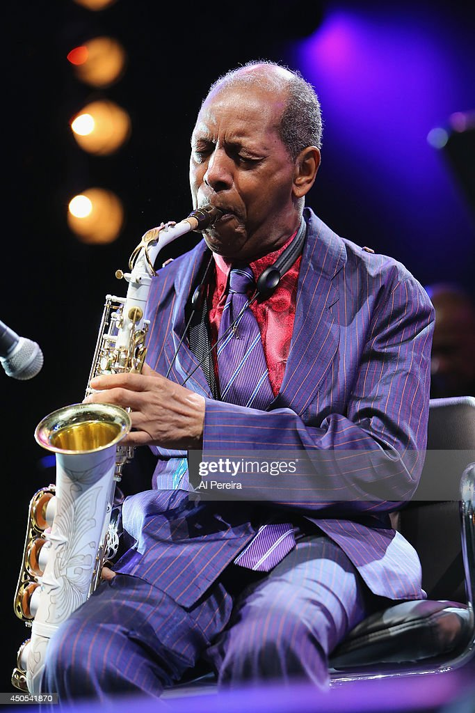 Ornette Coleman performs during 'Celebrate Ornette: The Music of Ornette Coleman', part of the 2014 Celebrate Brooklyn! season at the Prospect Park Bandshell on June 12, 2014 in the Brooklyn borough of New York City.