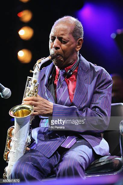 Ornette Coleman performs during Celebrate Ornette The Music of Ornette Coleman part of the 2014 Celebrate Brooklyn season at the Prospect Park...