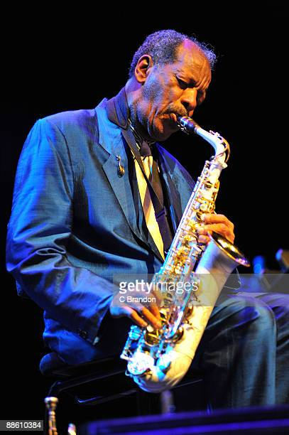 Ornette Coleman performs on stage as part of Meltdown at the Royal Festival Hall on June 21, 2009 in London, England.