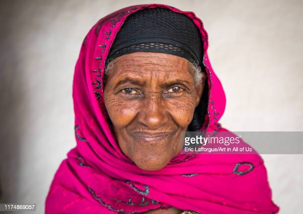 Oromo pilgrim woman in Sheikh Hussein shrine Oromia Sheik Hussein Ethiopia on August 11 2019 in Sheik Hussein Ethiopia