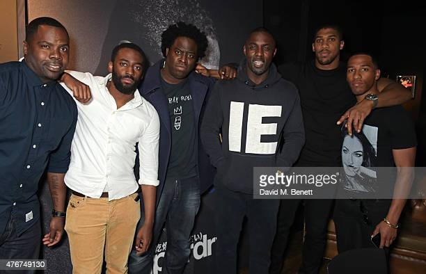 Oronde Garrett Ashley Thomas Jeymes Samuels Idris Elba Anthony Joshua and James Mulley attend the official Idris Elba Superdry presentation at LCM at...