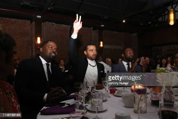 Oronde Garrett honoree Jesse Williams and Moving Mountains Founder Jamie Hector attend the 2019 Moving Mountains Gala on June 4 2019 in New York City