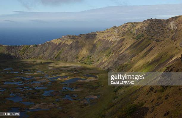 Orongo national park includes the Rano Kau volcan and a ceremonial village made of 57 houses This is where the birdman competition used to take place...