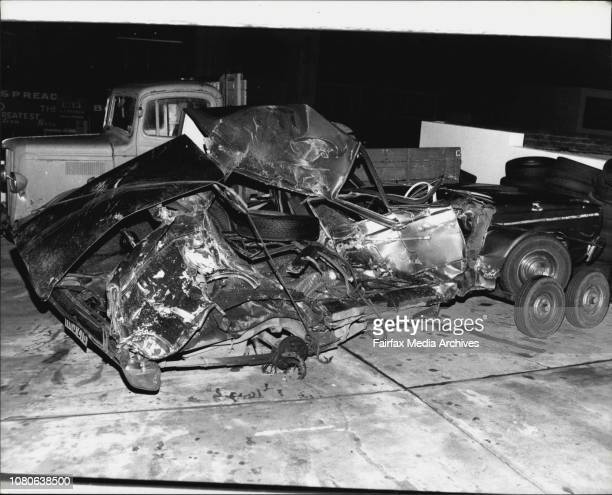 Orphan The wreckage of the Koteka family car pictured today July 21 1983