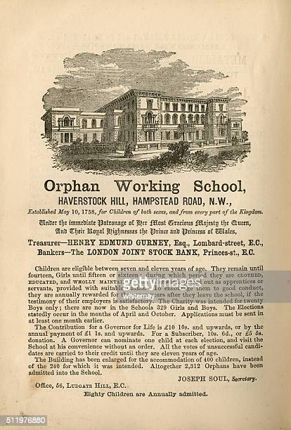 Orphan Working School, Hampstead - advertisement, 1865