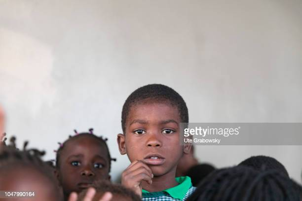 Orphanage St Egidius Group of children in an orphanage for AIDS patients on August 26 2018 in Beira Mozambique
