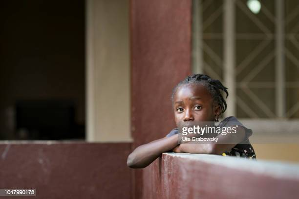 Orphanage St Egidius Portrait of a girl in an orphanage for AIDS patients on August 26 2018 in Beira Mozambique