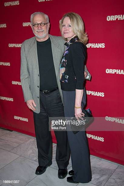 Orphans CoProducer Robert Cole and Laura Cole attend the after party for the Orphans Broadway opening night at Espace on April 18 2013 in New York...