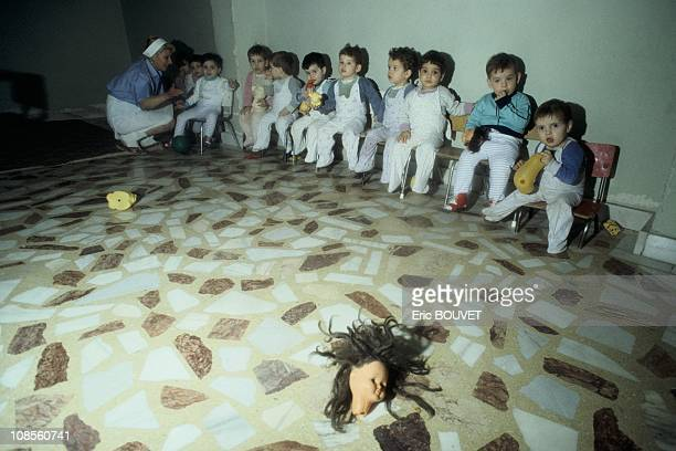 Orphans waiting to be sold in Bucharest, Romania on December 30th, 1989.