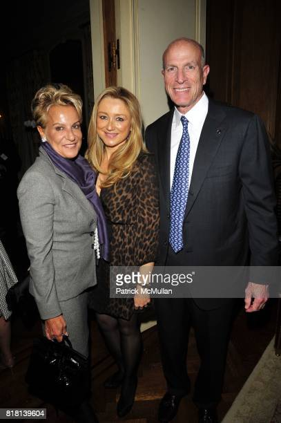 Orphelia Rudin Caroline Berthet and Mike Lorig attend TISCH School of the Arts 2010 PreGala cocktails at Private Residence NYC on November 15 2010 in...