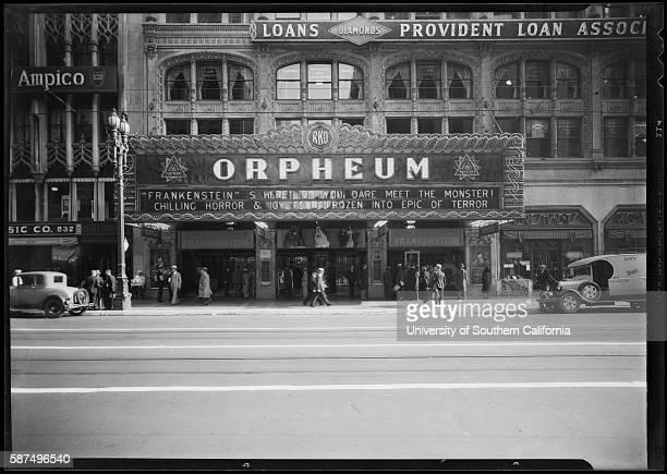 Orpheum Theater, 1932.