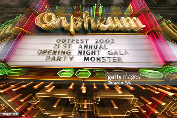 Orpheum Theatre during The Opening Night Gala of Outfest featuring Party Monster in Hollywood, CA, United States.