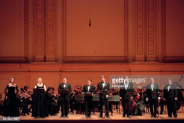 Orpheus Chamber Orchestra performing Rossini's Il Signor Bruschino at Carnegie Hall on Saturday night April 15 2000This imageFrom left Julia Fischer...