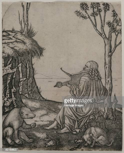 Orpheus Charming the Animals circa 1505 In Greek mythology Orpheus was a singer and poet He was given a lyre by Apollo the god of music and was...